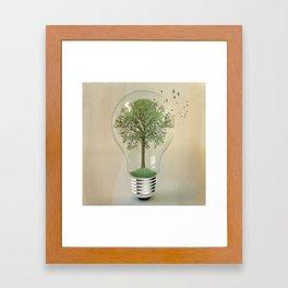 green ideas Framed Art Print