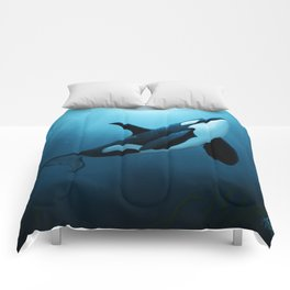 """The Dreamer"" by Amber Marine ~ Orca / Killer Whale Art, (Copyright 2015) Comforters"