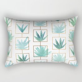 Mid Century Succulents Rectangular Pillow
