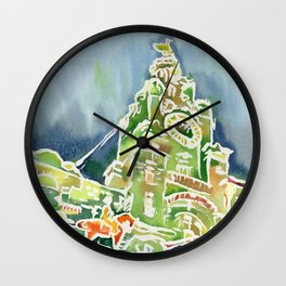 Watercolour of Liverpool Wall Clock