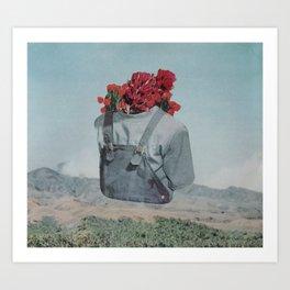 Floral Overalls Art Print