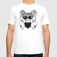 Rock Out Monkey Boy Mens Fitted Tee White MEDIUM