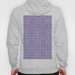 -A16- Traditional Blue Moroccan Tile Pattern. Hoody