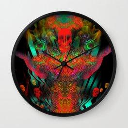 Atomic Psychedelia Wall Clock