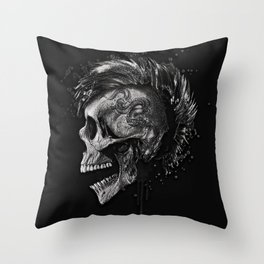 Skull dark illustration. Throw Pillow