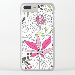 Retro floral pattern Clear iPhone Case