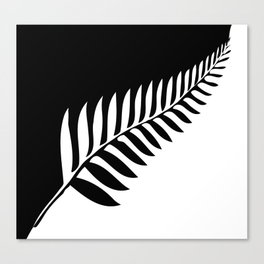 Silver Fern of New Zealand Canvas Print