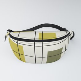 1950's Abstract Art Chartreuse Fanny Pack