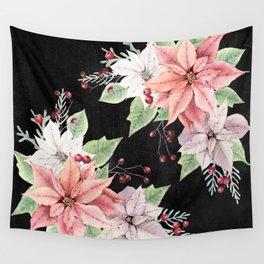 Poinsettia Wall Tapestry