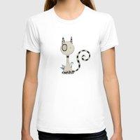 plain T-shirts featuring Shy Cats, plain by Päivi Hintsanen