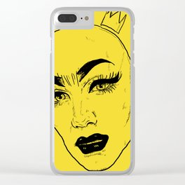 SASHA VELOUR Clear iPhone Case