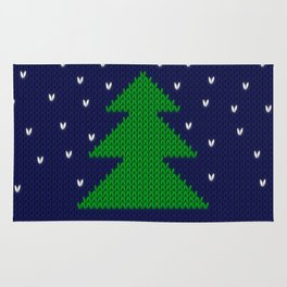 Knitted Christmas tree Rug
