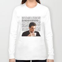 dale cooper Long Sleeve T-shirts featuring Agent Cooper - coffee quotes  by Alessandro Paradossi