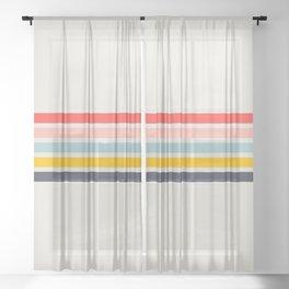 Naomori - Classic Minimal Retro Stripes Sheer Curtain