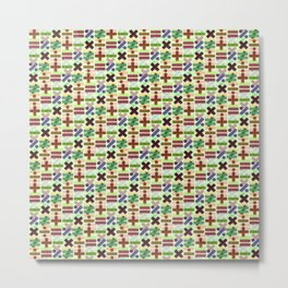 Seamless Colorful Abstract Mathematical Symbols Pattern VII Metal Print