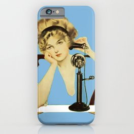 """C Coles Phillips 'Fadeaway Girl' """"Long Distance Call"""" iPhone Case"""