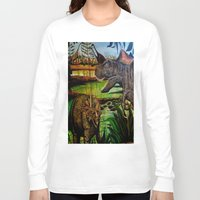 dinosaurs Long Sleeve T-shirts featuring DINOSAURS by shannon's art space