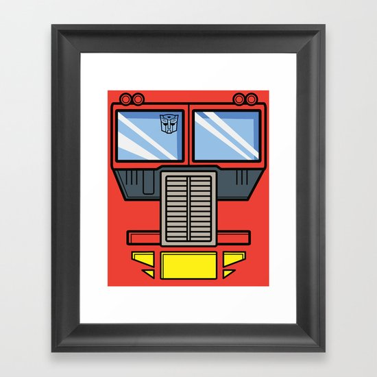 Transformers - Optimus Prime Framed Art Print