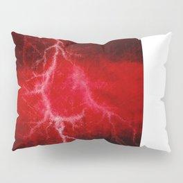 Red Lightning  Pillow Sham