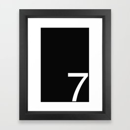#7 Framed Art Print