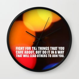 "Fight for the things... ""Ruther Bader Ginsburg"" Life Inspirational Quote Wall Clock"