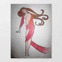 mucha Canvas Prints featuring Mucha-esque by Shawna Smyth