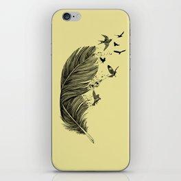 Feather Birds BW iPhone Skin