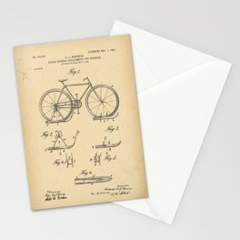 1904 Patent Sleigh runner attachment for bicycles Stationery Cards