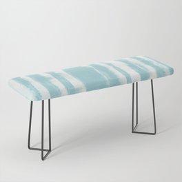 Shibori Stripe Seafoam Bench