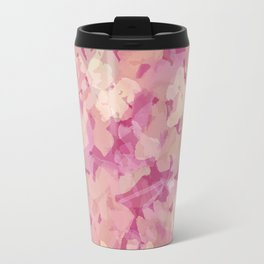 Peach Pie Floral Travel Mug