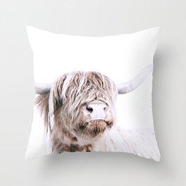 HIGHLAND CATTLE PORTRAIT Throw Pillow