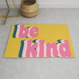 Be Kind Inspirational Anti-Bullying Typography Rug