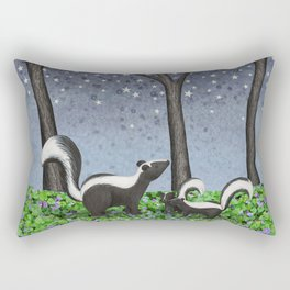 starlit striped skunks Rectangular Pillow
