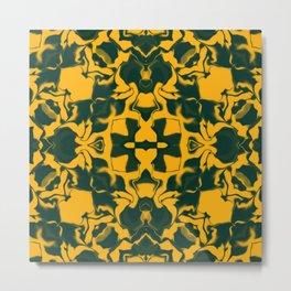 Green and Gold Kaleidoscope Pattern #2 Metal Print