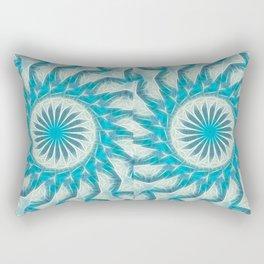 Cyan Glow Kaleidoscope 19 Rectangular Pillow