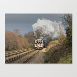 En Route To The Station Canvas Print