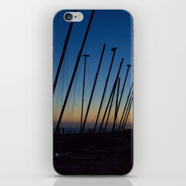 Boats in The Night iPhone Skin