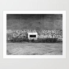 Campsite under the Bridge Art Print