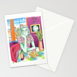 Angel / Alien Stationery Cards