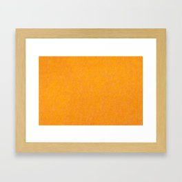 Yellow orange material texture abstract Framed Art Print