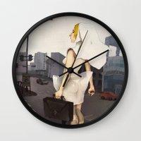 seoul Wall Clocks featuring Seoul tour  by MYLÈNE BRAGINA