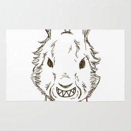 Scary Bunny Halloween Costume Rug