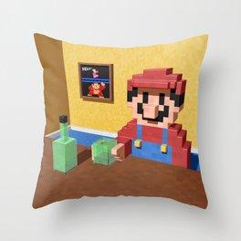 Game over Mario Throw Pillow