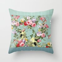 flora Throw Pillows featuring Flora by mentalembellisher