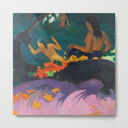 Paul Gauguin - By the Sea- Tropical Decor Metal Print