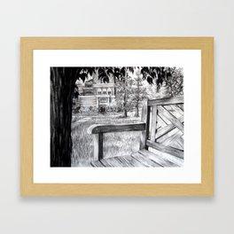 Benchin' Framed Art Print