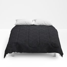 Black damask - Elegant and luxury design Comforters