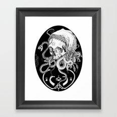 Witch Skull Framed Art Print