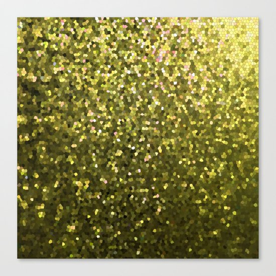 Mosaic Sparkley Texture Gold G188 Canvas Print