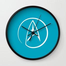 Heathen Trekkie - StarTrek 's Spock Blue Wall Clock